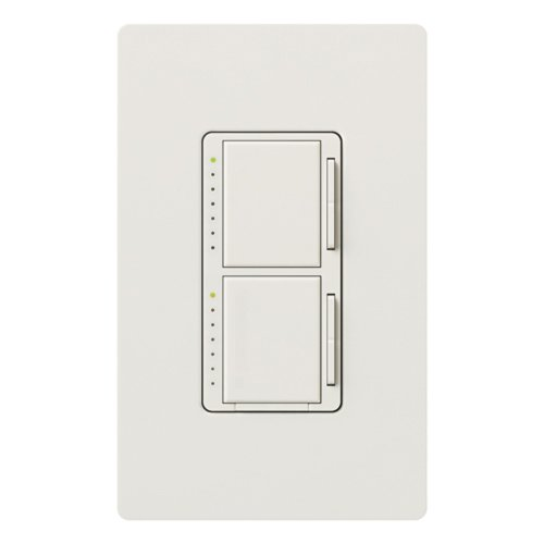 Lutron MA-L3L3HW-WH Maestro 300-watt Single Pole Dual Dimmer, White