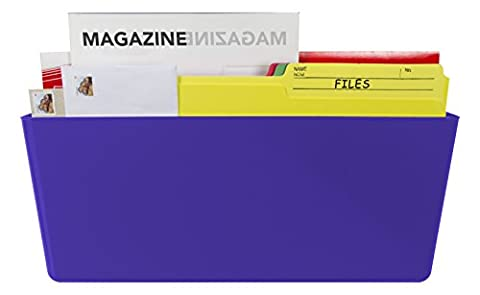 Storex Magnetic Wall Pocket, 16 x 4 x 7 Inches, Legal, Class Purple, Case of 6 (70234U06C)