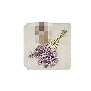 6Pcs/Bundle Vanilla Spike Foam Artificial Flowers for Garden Wedding Decoration Cereals Plant Bundle Fleur artificielle,E 62
