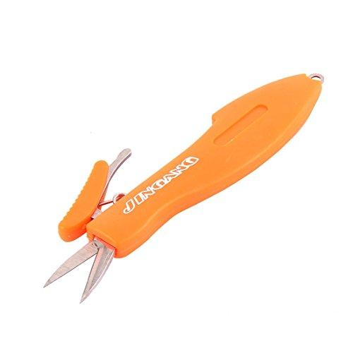 UPC 602451511397, uxcell Plastic Shell Fish Shape Foldable Fishing Tackle Scissors Line Cutter Orange