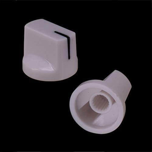 BIANCO 6 mm grande spinta sulla Manopola per Potenziometro cappuccio in plastica 24 mm