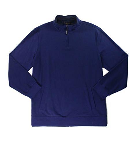 Club Room Mens Micro-Fleece 1/2 Zip Pullover Sweater, Navy Blue, XX-Large (Micro Fleece 1/2 Zip Pullover)