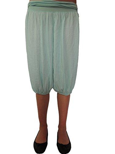 11 Farben kurze Damen Uni Pumphosen Gr. 42 44 46 48 50 52 54 Mint