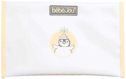 Bébé-Jou - Funda blanda para pañales, diseño de pingüino, color naranja, blanco y negro