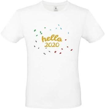 Générique Camiseta de Año Nuevo Personalizado Hello 2020: Amazon.es: Ropa y accesorios