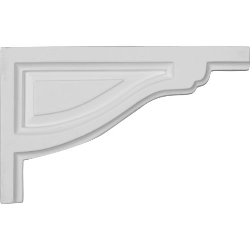 Ekena Millwork SB08X05TR-R 8-Inch W by 5-Inch H by 1/2-Inch D Small Traditional Stair Bracket, Right