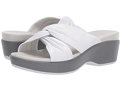 Cole Haan Women's Aubree Grand Knotted Slide Sandal White Nappa 9.5 B US ()