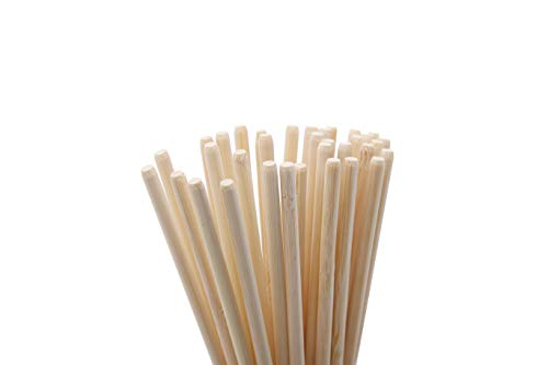 FAMY 5.5inch 5mm Thick Bamboo Sticks for Caramel Candy Apple Sticks Corn Dog Skewers Corn Cob Sticks Also for Cakepop Candy Cookie Lollipop (100pcs)