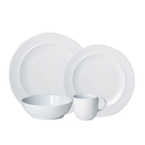 Denby 16-Piece Dinnerware Set, White