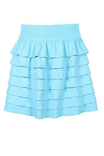 Crush Girls Seamless Skater Skirt with Inner Shorts, Size 7-14, Turquoise by C CRUSH ORIGINAL