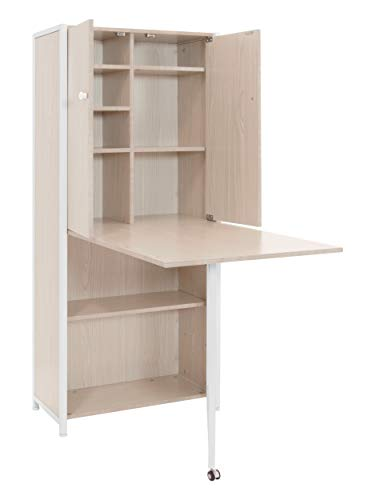 Sew Ready Multi-Use Craft Armoire, White/Birch