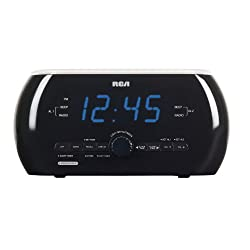 RCA Clock Radio With Motion-Activated Soft Light