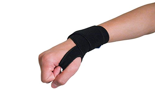 MagicWrap - Self Adhesive Adjustable Wrist Support Wrap Professional Grade with Thumb Loops Wrist Support Braces for Men & Women Weight Lifting (Black)