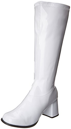 Ellie Shoes Women's Gogo Boot, White, 7 M (White Go Go Boots)