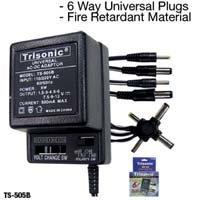 Trisonic TS-505B 1.5 to 12 V 500MA AC/DC Adapter