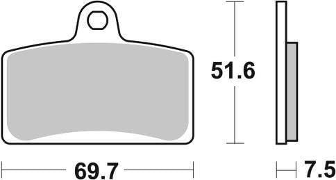 Tomos SM 125 F SM125F 06 07 08 SBS Performance Front Fast Road Sintered Sinter Bremsbel/äge Satz Original OE Qualit/ät 821HS