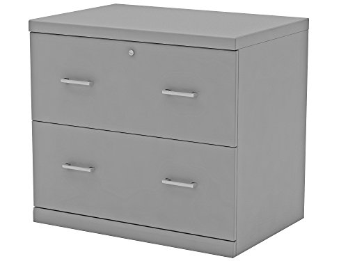 Z-Line Designs ZL2265-2GLU 2-Drawer Grey Lateral File Cabinet,