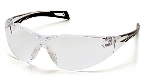 Pyramex Safety PMXSLIM Eyewear, Black Temples, Clear Anti-Fog Lens