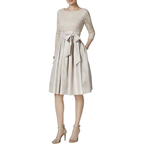 - Jessica Howard Womens Lace Knee-Length Cocktail Dress Beige 10