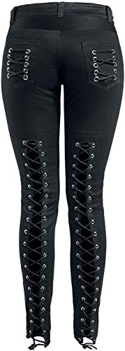 Gothicana En Skarlett Pantalon Noir By Emp Toile 78q7g1