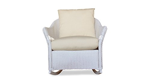 Lloyd Flanders 72233-001-686 Freeport Collection Lounge Rocker in White Loom Finish, Chartres Mink