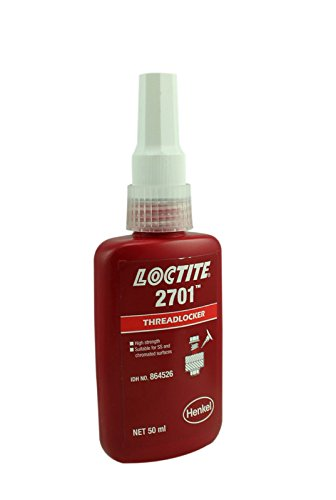 Genuine Henkel Loctite 2701 Maximum Strength - Threadlocking Adhesive - 50 ML - 50 Pack by Loctite 2701