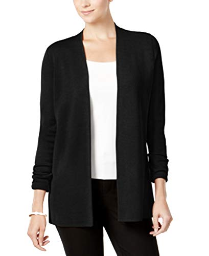 - Charter Club Open-Front Cardigan (Deep Black, XS)