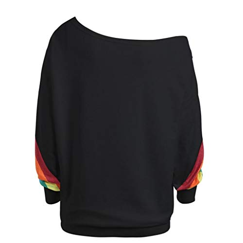 Clearance ! TOOPOOT Women's Rainbow Pullover Autumn Winter Warm Apparel Hooded Sweatshirt Blouse Short Tops by TOOPOOT-Coat (Image #1)