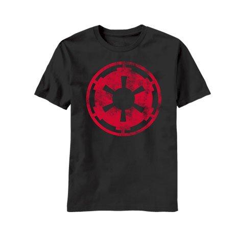 Star Wars Aging Empire Symbol T-Shirt - Black (Small) (Star Wars Complete Saga Not Blu Ray)