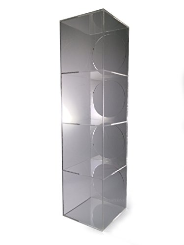 "Go Beyond Premium Clear Acrylic 4-Tier Countertop Display Multi-purpose Showcase Case Rack 5"" x 5"" x 20"" (Standard Display)"