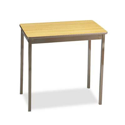 Barricks UT183030LQ Utility Table, Rectangular, 30w x 18d x 30h, Oak/Brown
