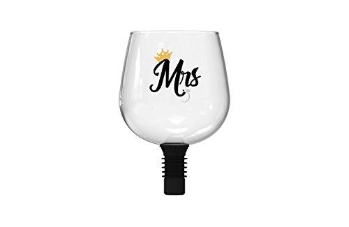 (Guzzle Buddy BGA-154177 ' Mrs Wine Bottle Glass, One Size, Clear)
