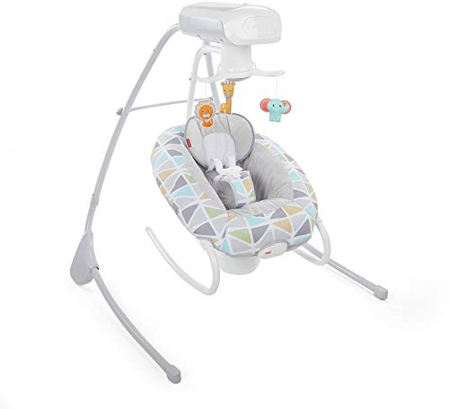 Fisher-Price 2-in-1 Deluxe Cradle 'n Swing, Multi Color from Fisher-Price