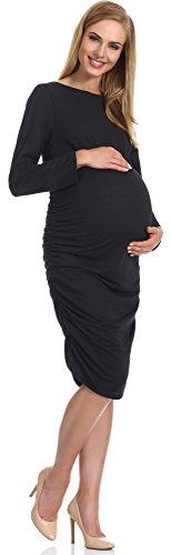 Be Mammy Vestido Premamá para Mujer Anja Negro