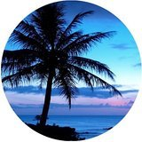 Tropical Hawaii Beach Palm Tree Summer Sunshine Rounded Mouse Pad Mousepad - Beach Palm Outlets