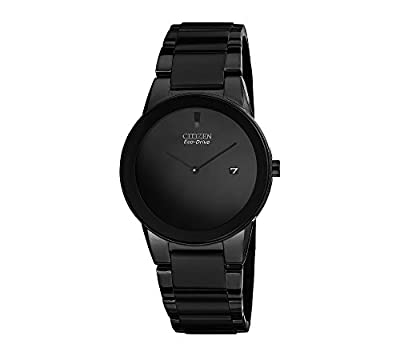 Citizen Men's Eco-Drive Black Ion-Plated Axiom Watch by Citizen