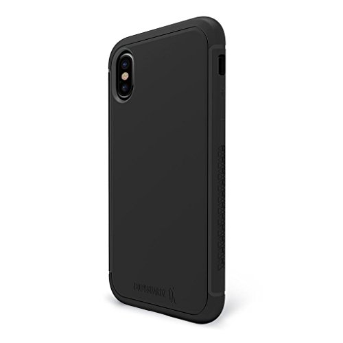 BodyGuardz - Shock Case for iPhone X, TPU Case with Impact-Absorbing Technology (Black)