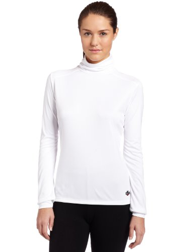 Fleece Turtleneck Micro (Hot Chillys Women's Peach Roll T-Neck Tee (White, X-Small))