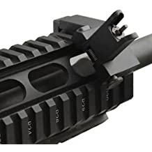 45 Degree Front Flip Up Rapid Backup Aluminum QD Weaver Picatinny AR15 AR-15 M16 M4 M-4 Flattop A1 A2 Post Back Up Iron Sight Mount Fits Any Weaver / Picatinny System