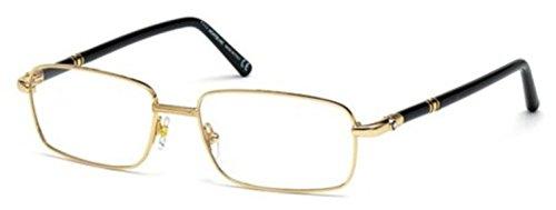 MontBlanc Men's MB0475 Rectangular Metal Frames GOLD 56