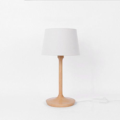 ZYN Wooden Table Lamp Vintage Small Table Lamp Bedroom Headboard Warm Light Wood Table Lamp (Color : Beech)