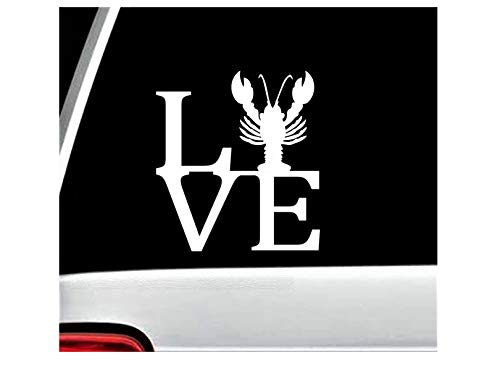 Best Design Amazing Lobster Love Decal Sticker for Car Window and Stick Decals - Made in USA