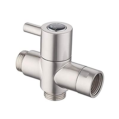 KES BRASS Shower Arm Diverter Valve Bathroom Universal Shower System Component Replacement Part for Hand Held Showerhead and Fixed Spray Head