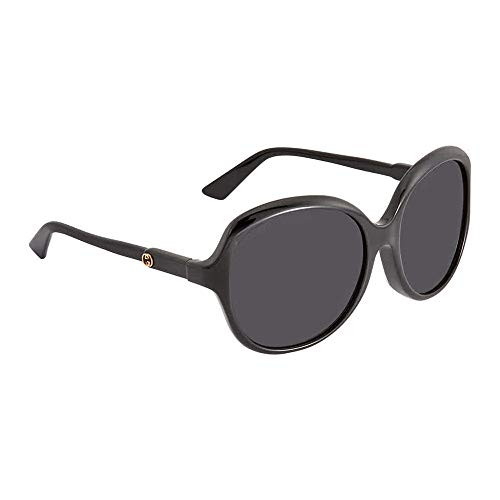 Gucci Grey Oversized Ladies Sunglasses GG0489SA00158 (Gucci Sonnenbrille Metall Rahmen)
