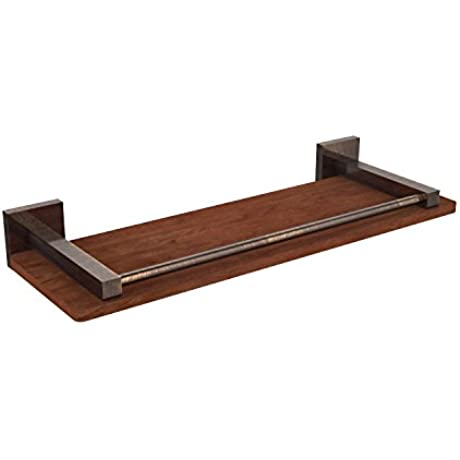 Allied Brass MT 1 16 GAL IRW VB Montero Collection 16 Solid Ipe Ironwood Shelf With Gallery Rail