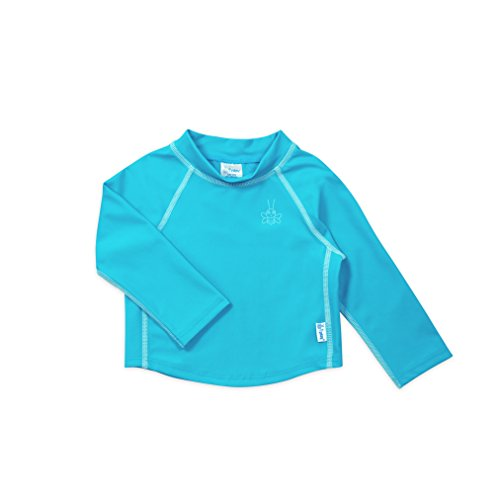 i play. Long Sleeve Rashguard Shirt | All-day UPF 50+ sun protection-wet or dry,Aqua Classic,24 months