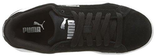 PUMA Boys' Smash Fun SD Jr Sneaker, Black White, 6.5 M US Big Kid