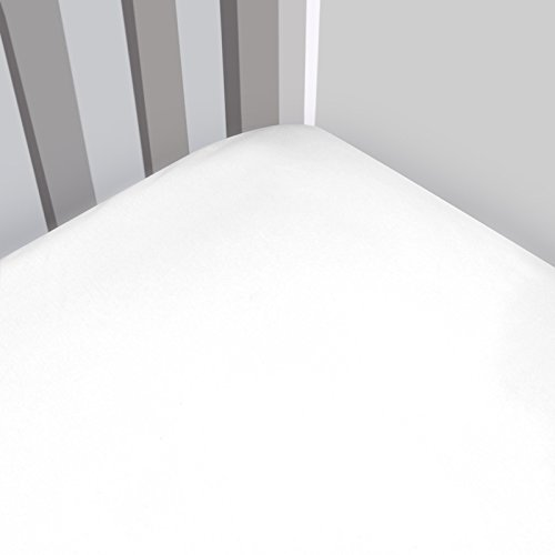 Magnolia Organics Fitted Interlock Crib Sheet - Porta, White