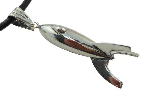 Retro-Rocket Sterling Silver Pendant