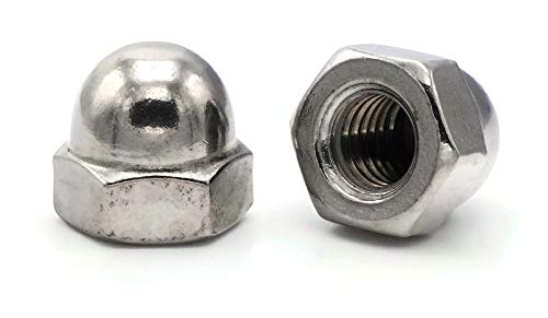 25 Pieces 9//16 Flats x 17//32 Height Cap Acorn Hex Nuts 18-8 Stainless Steel UNF 5//16-24